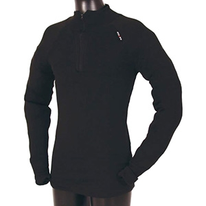 USSEN Baltic Norj Zipped Polo (Black)
